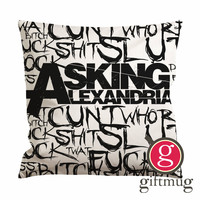 Asking Alexandria Quotes Cushion Case / Pillow Case