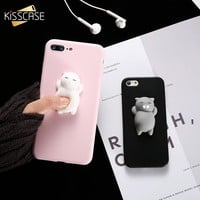 KISSCASE Squishy Cat Soft Phone Case for iPhone