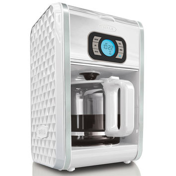 Bella Diamonds White 12-cup Programmable Coffee Maker | Overstock.com Shopping - The Best Deals on Coffee Makers