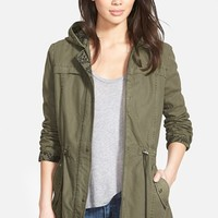 Women's Levi's Print Trim Cotton Twill Fishtail Parka,