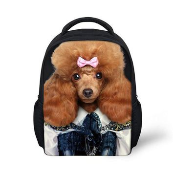 School Backpack Little Children School bag Cute 3D dog print Animal 3-5 years backpack for Girls Casual Kids princess School bag Mochila Escolar AT_48_3