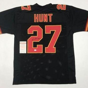 DCCKJNG Kareem Hunt Signed Autographed Kansas City Chiefs Football Jersey (JSA COA)