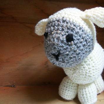 Lamb Stuffed Animal Nellie by RopeSwingStudio on Etsy