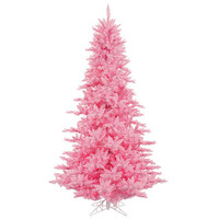 6.5' Pre-Lit Pretty in Pink Fir Artificial Christmas Tree - Pink Lights