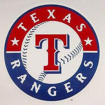 DCCKIHN Texas Rangers Reusable JUMBO Cling Auto Home Window Static Decal Baseball