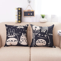 Cushion Pillow Case Totoro 2 Tone Color