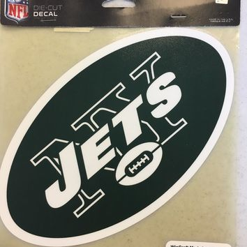 NEW YORK JETS COLOR CAR WINDOW DECAL GREAT HOLIDAY GIFT SHIPPING