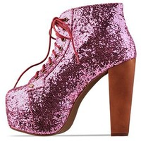 Jeffrey Campbell Lita in Light Pink Glitter at Solestruck.com