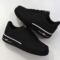 NIKE AIR FORCE 1 '07 Fashion Women Men Casual Sports Running Shoes Sneakers Black
