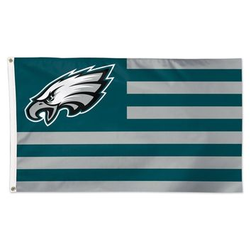 PHILADELPHIA EAGLES AMERICANA 3'X5' DELUXE FLAG BRAND NEW  SHIPPING WINCRAFT