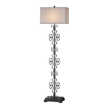 Adelardo Rust Bronze Floor Lamp