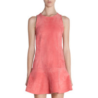 Balenciaga Drop Waist Suede Dress at Barneys New York at Barneys.com