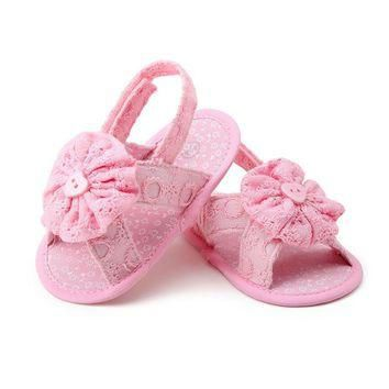 Baby Girls shoes Flower baby Toddler Princess First Walkers Girls Kid Baby summer Shoe