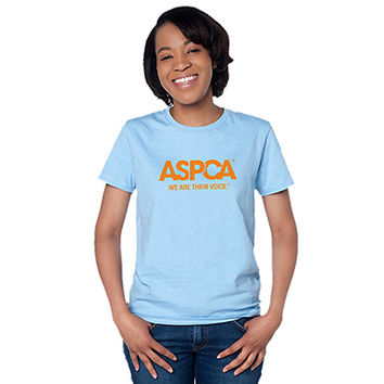 Ladies ASPCA We Are Their Voice Light Blue T-Shirt L