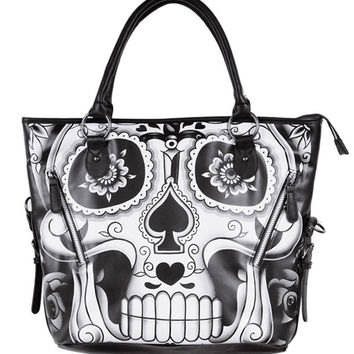 Sugar Daddy Tote Bag Women's Black/White By Iron Fist