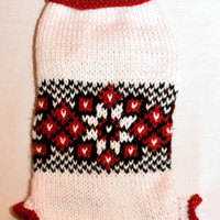 Knit Ukrainian Pattern Vyshyvanka for Small Dog. Dog Pattern Sweater. Ukrainian pattern. Sweater for Small Dog.Vyshyvanka. Size S