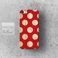 Polka dot Wood red,  Samsung Galaxy S4 3D-sublimated Unique design iPhone 4/4S case iPhone 5/5S case.