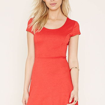 Cap-Sleeve Skater Dress
