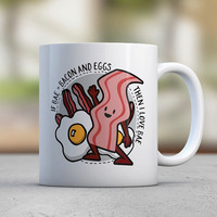 Bae - Bacon and Eggs - Cute Mugs - Funny Mugs - Coffee Mugs - Breakfast - Gift for Him - Gift for Her - Boyfriend Gift