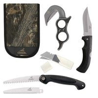 Gerber 42759 CAMO - Ultimate Game Cleaning Kit - EZZip w/2 Blades, EAB Saw w/2 Blades, Fold CP Gator, Sheath - Blister