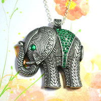 Rhinestone Elephant necklace - Bows Jewellery