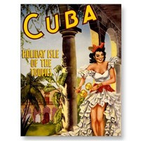 Cuba Holiday Isle of the Tropics ~ Vintage Travel Postcards from Zazzle.com