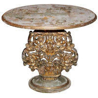 1STDIBS.COM - Melissa Levinson Antiques - Carved Italian Painted & Parcel Gilt Table C. 1900's