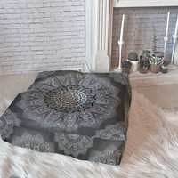 Monika Strigel SERENDIPITY BLACK Floor Pillow Square