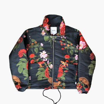 """Garden of God"" Black Woven Floral Jacket"