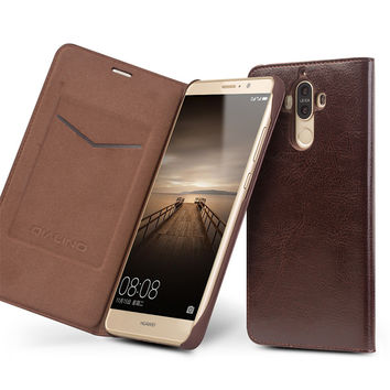 Case for Ascend Mate 9 Handmade Genuine Leather Cover for Mate 9 Luxury Ultra Slim Flip Case