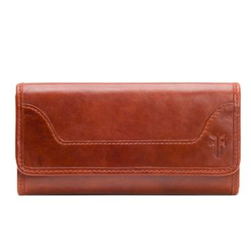 Frye Melissa Leather Wallet Red Clay