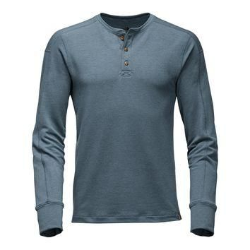 Men's Long Sleeve TNF? Terry Henley in Conquer Blue by The North Face