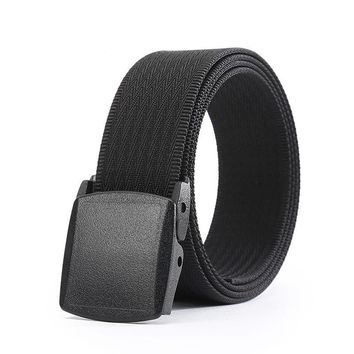 Black belt with buckle for men man's luxury brand tactical belts Nylon Leisure Military Waist Canvas male