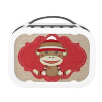 Adorable Sock Monkey Custom Baby Shower Yubo Lunchbox