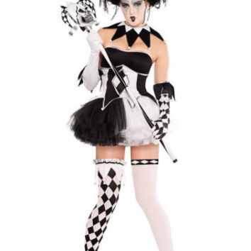 Halloween Jester Women Costume