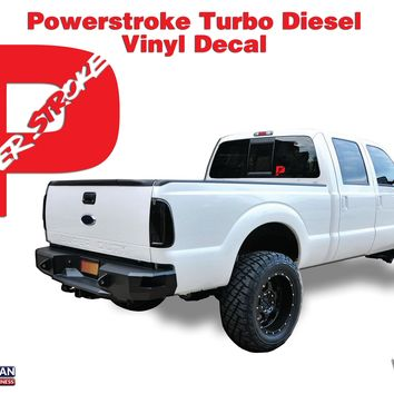 Powerstroke Turbo Diesel Hood Window Body vinyl sticker decal 5""