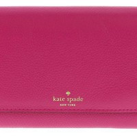 DCK4S2 Kate Spade Grey Street Callie Pebbled Leather Wallet Clutch Purse