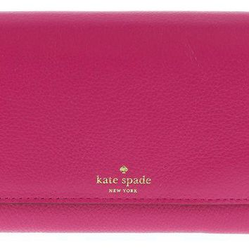 VONL8T Kate Spade Grey Street Callie Pebbled Leather Wallet Clutch Purse