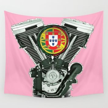 Portuguese pure evol hot  pink Wall Tapestry by Tony Silveira