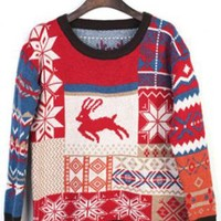 Christmas Red Deer  Sweater C000011
