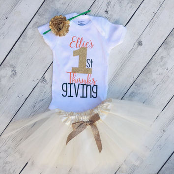 My first thanksgiving outfit custom thanksgiving Onesuit  baby girl newborn thanksgiving outfit thanksgiving outfit thanksgiving outfits baby