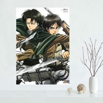 Cool Attack on Titan Living Room Decor  Art Poster 27x40cm Fabric Silk Cloth Poster AT_90_11