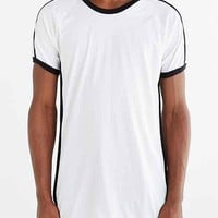 Drifter Ace Side Panel Crew Neck Tee- White