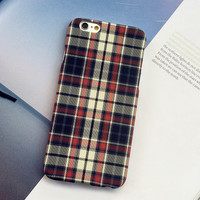 Retro Grid Case Cover for iPhone 5s 6 6s Plus Gift-150