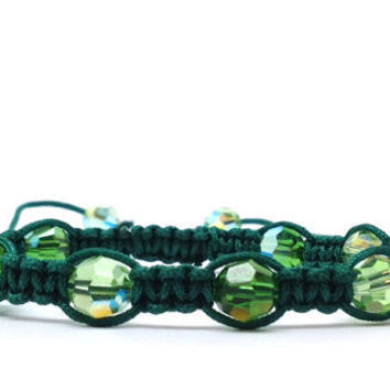Green Macrame Bracelet by GirlBurkeStudios on Etsy