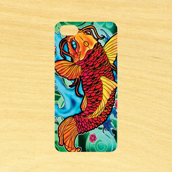 Koi Fish Version 2 Art iPhone 4/4S 5/5C 6/6+ and Samsung Galaxy S3/S4/S5 Phone Case