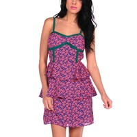 Sugar Lips Printed Peplum Dress