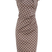 Taupe drape side dress - View All New In - What's New - Dorothy Perkins