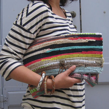 Bohemian Kilim Clutch Bag - Boho Laptop Sleeve Purse