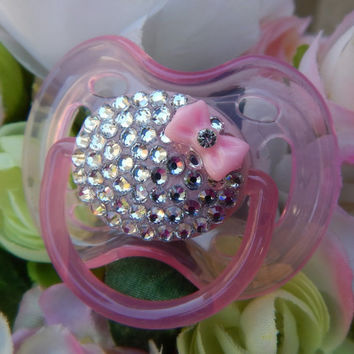 Bling Rhinestone Pacifier Paci Binky Bling Avent Baby Pacifier Novelty Item